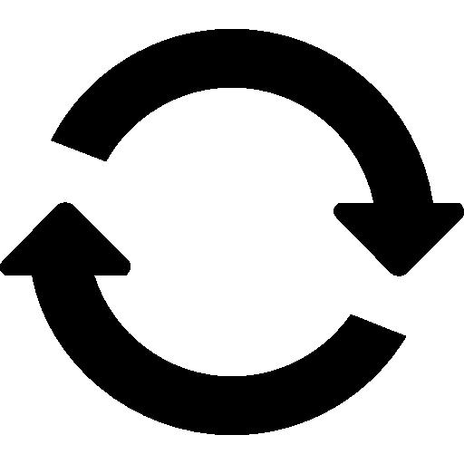 Two Clockwise Circular Rotating Arrows Circle Icons Free Download