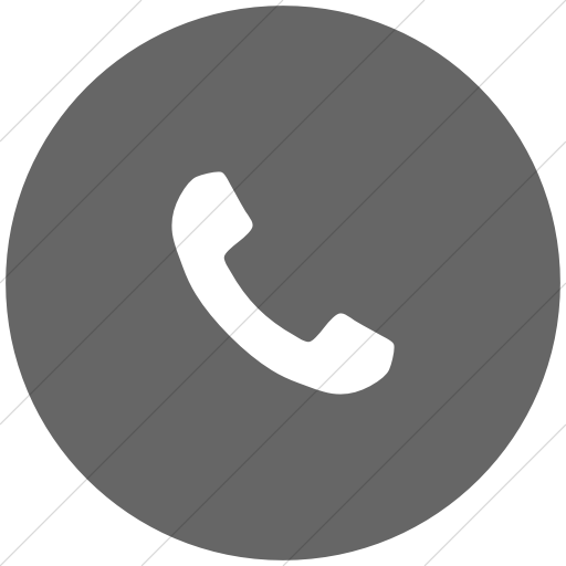 Flat Circle White On Gray Bootstrap Font Awesome Phone Icon