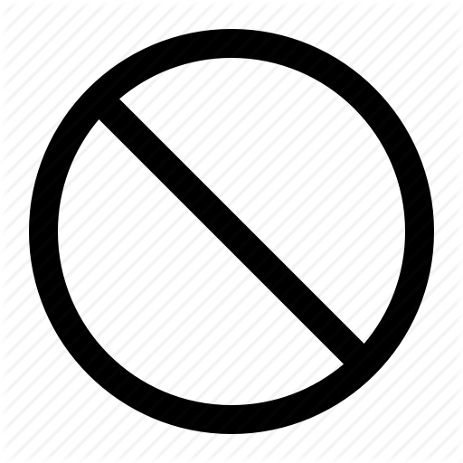 Circle, Reject, Slash, Slash Circle Icon