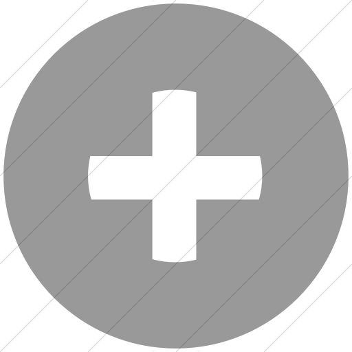 Flat Circle White On Light Gray Classica Plus Sign Icon