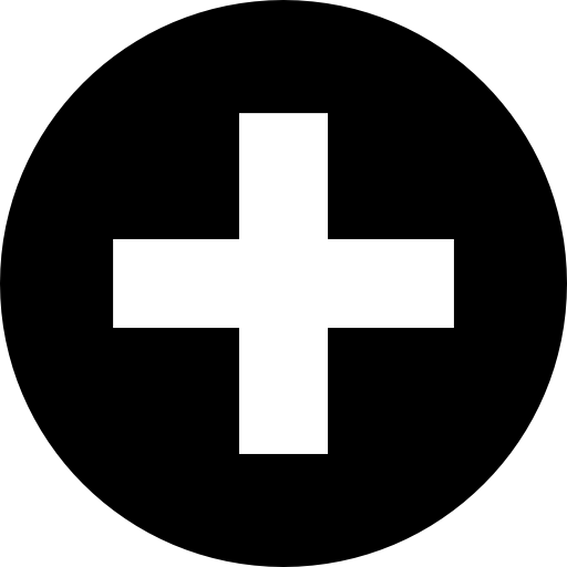 Plus Symbol Round Button