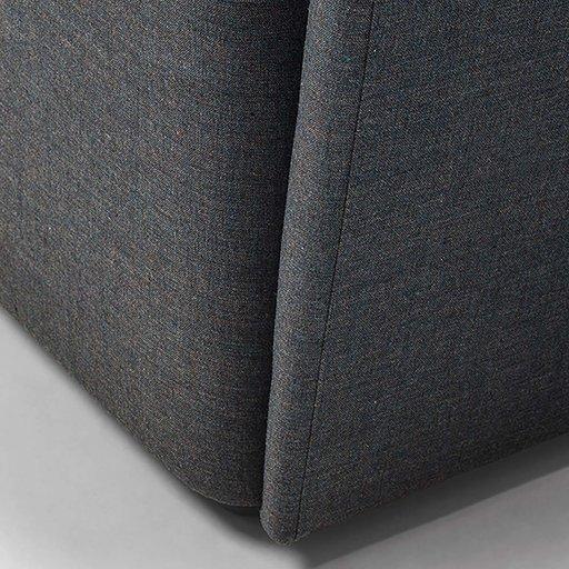 Velour High Back Gray Armchair