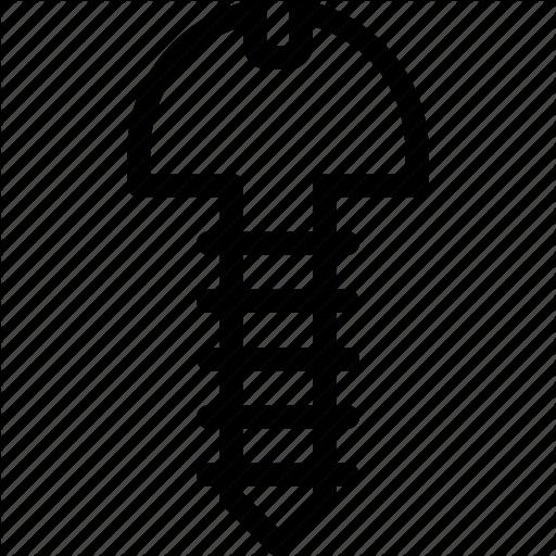 Civil, Engineer, Manufacturing, Screw Icon