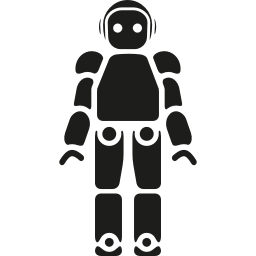 Pictures Of Black And White Robot Icon Png
