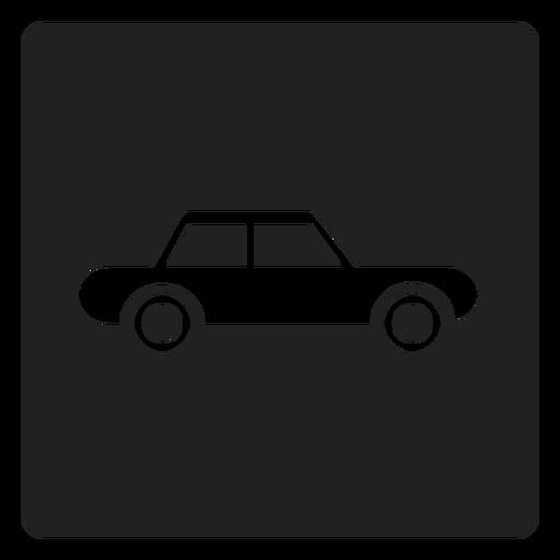 Simple Automobile Car Square Icon