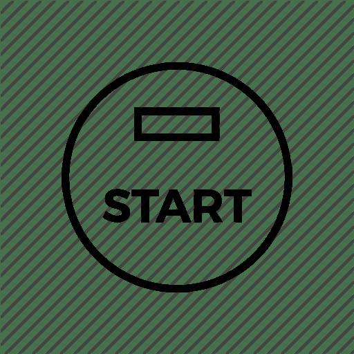 Press Start Button Icon