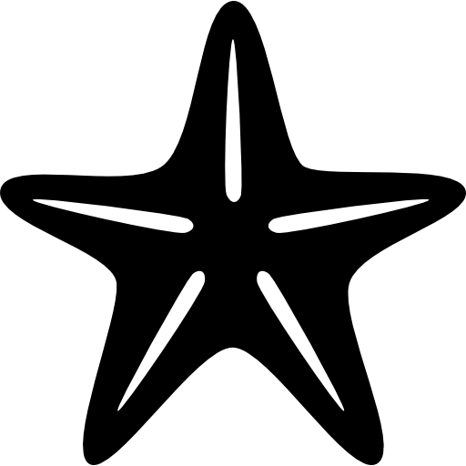 Star Of Sea Fivepointed Shape Icons Free Download
