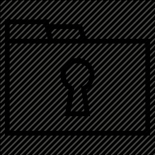 Classified Document, Locked Document, Locked Folder, Secret