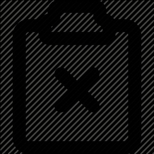 Clear Clipboard, Empty Clipboard, Hardboard, Remove Data Icon