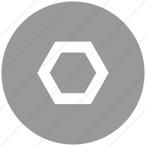 Flat Circle White On Light Gray Classica Hexagon Clear Icon