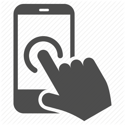 Click, Finger, Phone, Screen, Tap, Touch, Touchscreen Icon
