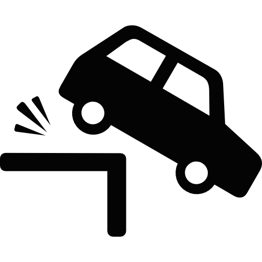 Car And Cliff Icons Free Download