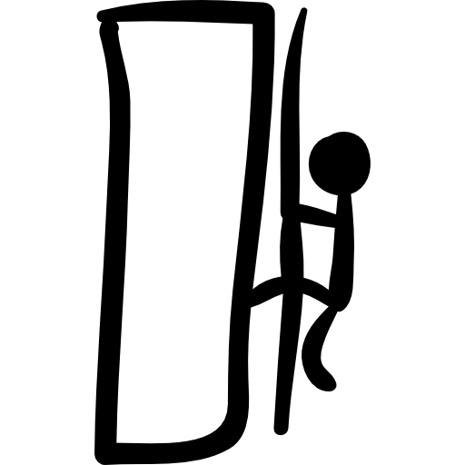 Climbing Mountain Hand Drawn Climber Icons Free Download