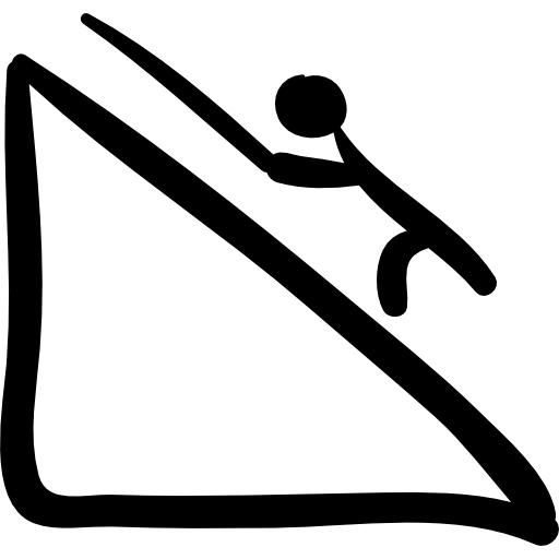 Climber Climbing A Mountain Hand Drawn Sportive Scene Icons Free