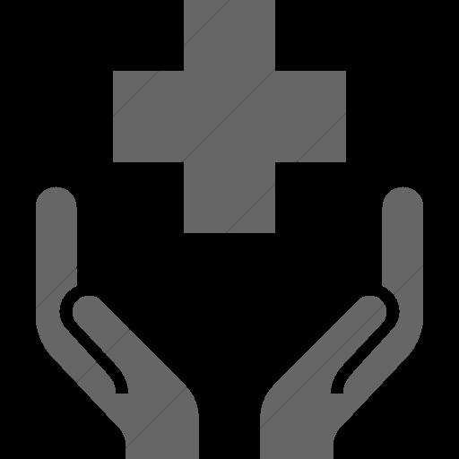 Simple Gray Iconathon Public Health Clinic Icon