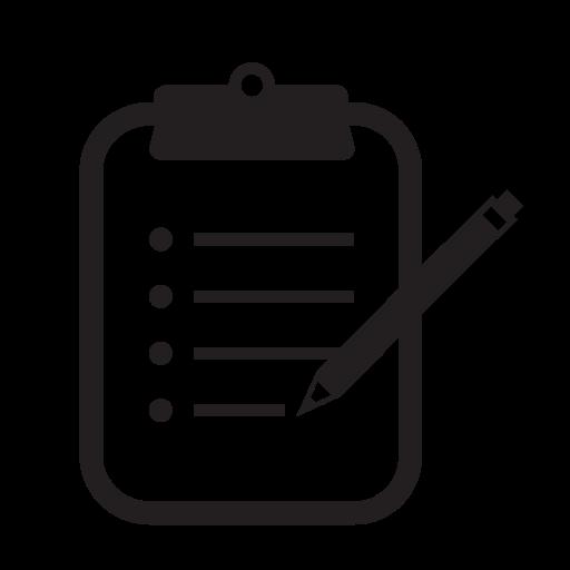 Clipboard, Notes, Pen, Pencil Icon