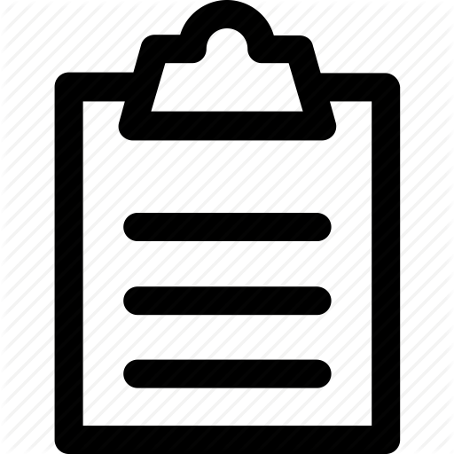 Clipboard Icon, Medical, Note, Report Icon