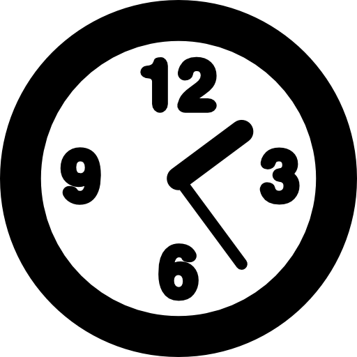 Round Clock Outline Icons Free Download