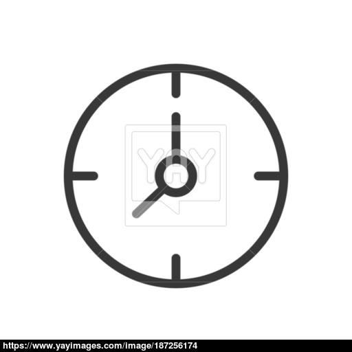 Clock Icon Design Line Style Vector