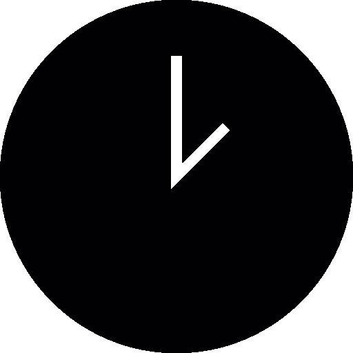 Round Black Clock Icons Free Download