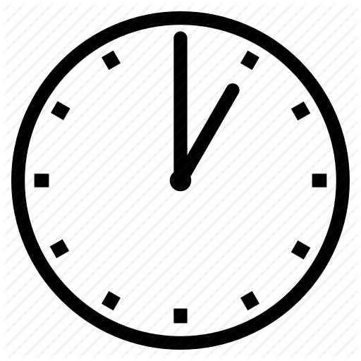 Clock, One O' Clock Icon