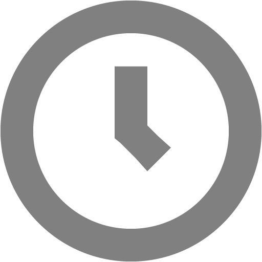 Gray Clock Icon