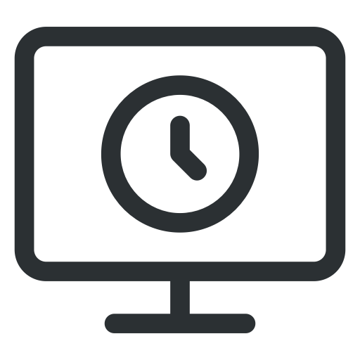Business, Clock Icon, Display, Lcd, Office, Time Icon