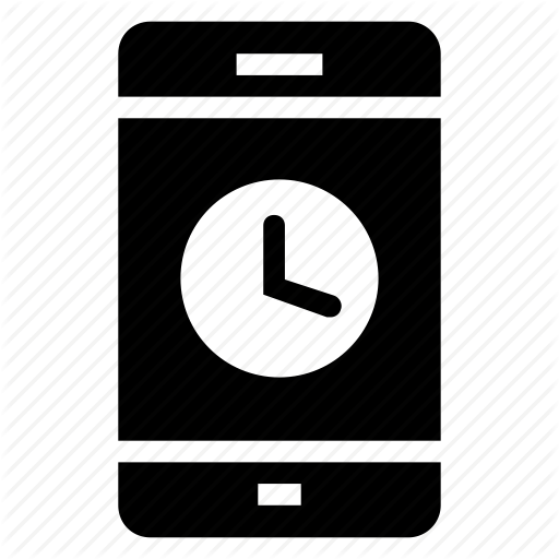 Cell, Clock, Device, Iphone, Mobile, Phone, Smartphone Icon