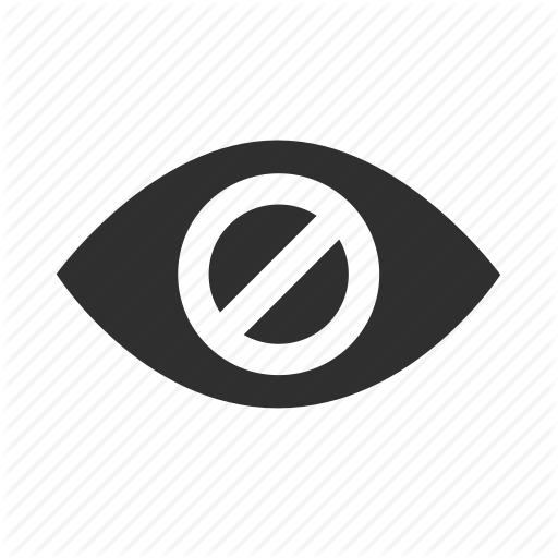 Blind, Dark, Disable, Disabled, Eye, Hidden, Hide Icon