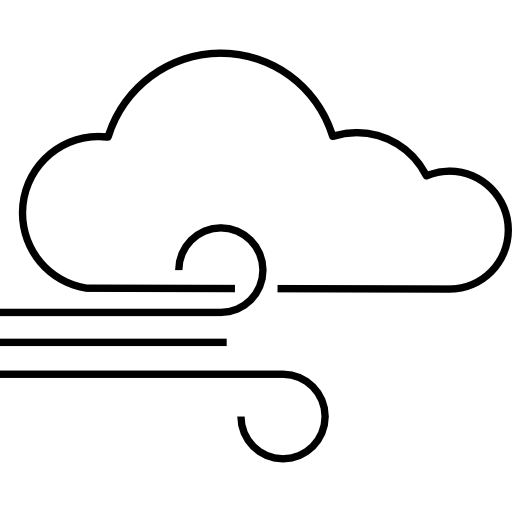 Wind Blowing And Cloud Icons Free Download