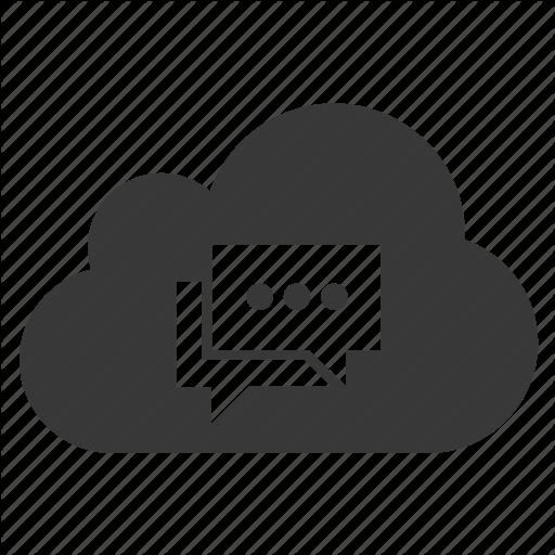 Chat, Cloud, Conversation, Message, Text Icon