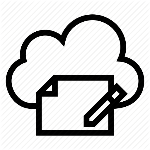 Cloud, Computing, Content, Pencil, Text, Weather, Write Icon