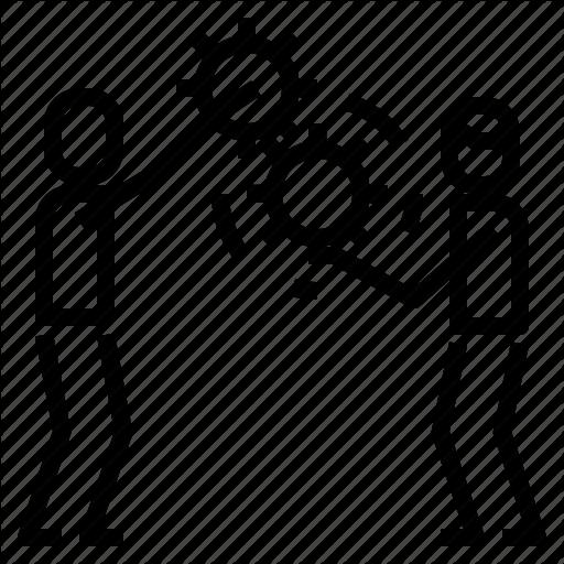 Co, Team, Teamwork, Working Icon
