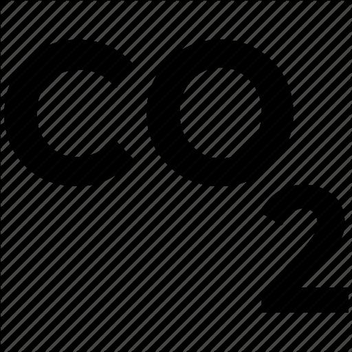 Carbon, Emission, Formula, Dioxide, Ecology Waste Icon