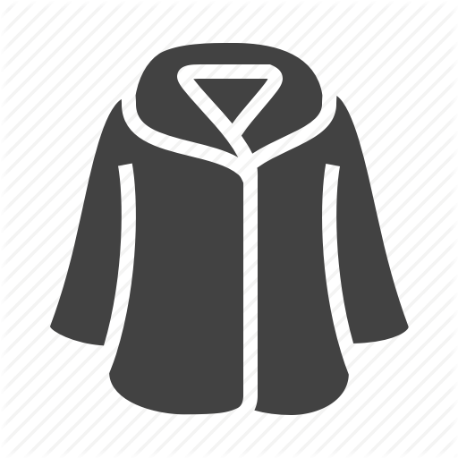 Clothes, Clothing, Coat, Fur Icon