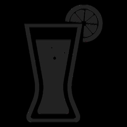 Coke With Lemon Glass Flat Icon