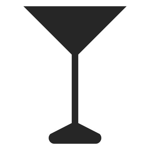 Martini Glass Flat Icon