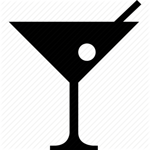 Alcohol, Cocktail, Glass, Martini, Martini Glass, Olive Icon