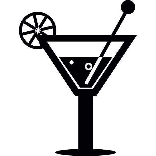 Cocktail On A Glass Icons Free Download