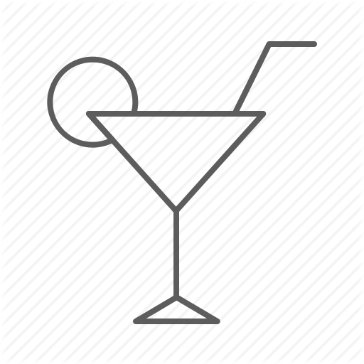 Alcohol, Cocktail, Drink, Glass, Lemon, Party, Stick Icon