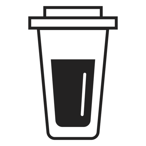 Plastic Coffee Cup Flat Icon