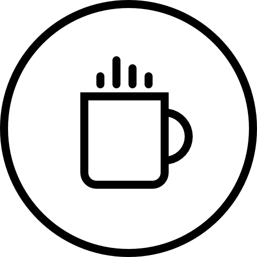 Coffee Shop Circular Button