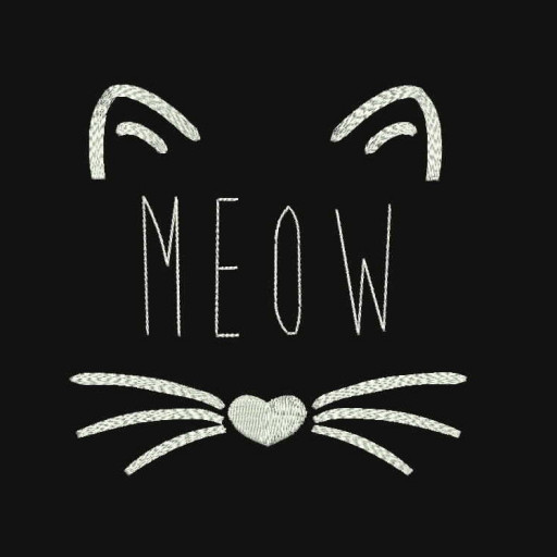 Meow Cat Machine Embroidery Designs