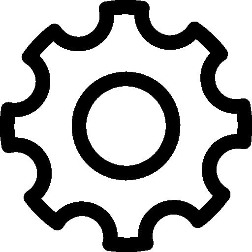 White Cogwheel Icons Free Download
