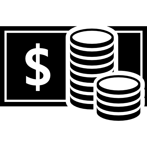 Coins Stacks And Banknotes Icons Free Download