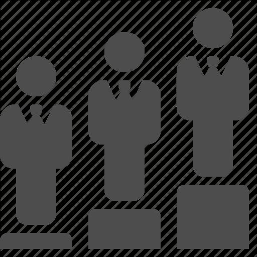 Businessman, Businessmen, Hierarchy, Men, People, Podium, Ranking Icon