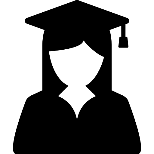 Female Graduate Student Icons Free Download