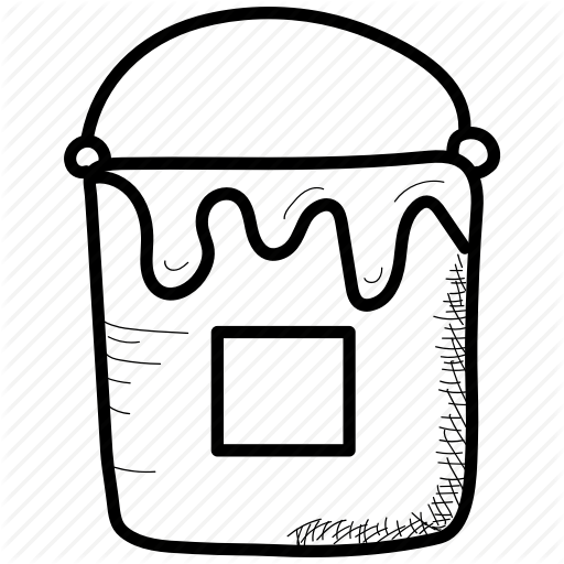 Bucket, Color, Paint Icon
