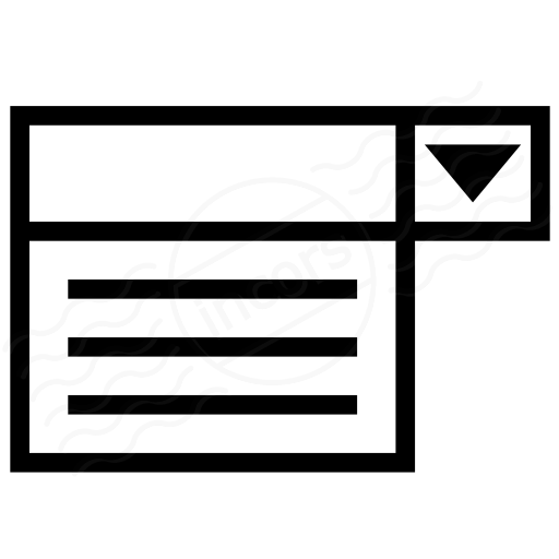 Iconexperience I Collection Drop Down List Icon