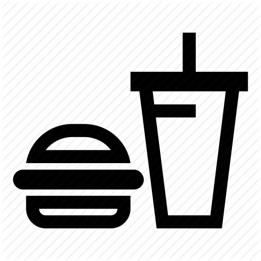 Burger, Burger Combo, Cola, Hamburger, Lemonade, Soda, Water Icon